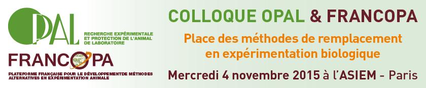 Bandeau du colloque OPAL et FRANCOPA 2015